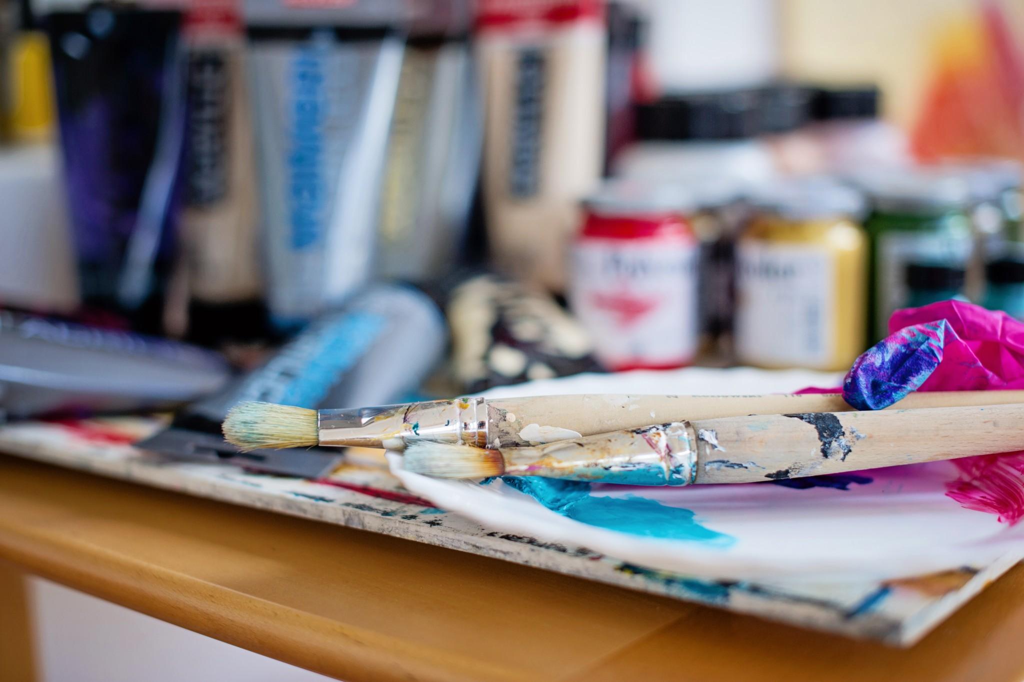 Pędzle do malowania obrazów