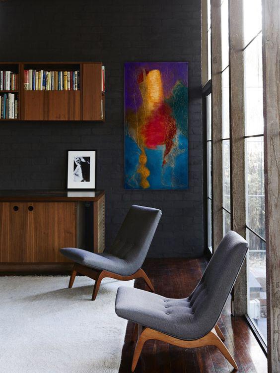 Obraz w nowoczesnym stylu w rogu pokoju