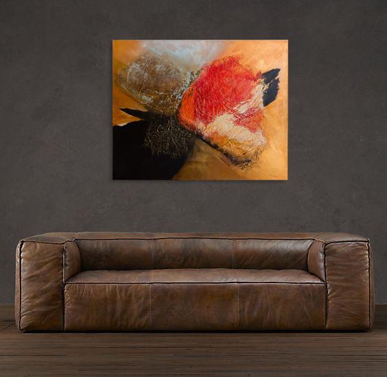 Duży obraz nad sofą