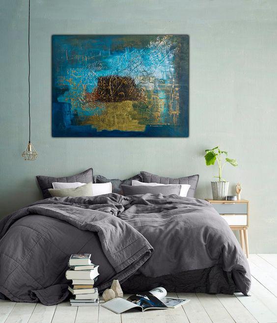 Współczesna sztuka w sypialni
