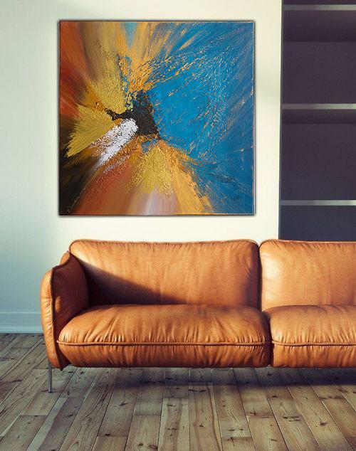Współczesne malarstwo w salonie